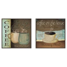 Found it at Wayfair - Framed 2 Piece Kitchen Coffee Label Art