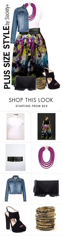 """Plus Size Electric Maxi - Society+"" by iamsocietyplus on Polyvore featuring Torrid, BaubleBar, Sole Society, Jessica Simpson, Amrita Singh, plussize, plussizefashion, societyplus and iamsocietyplus"