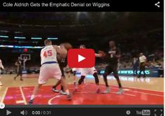 Cole Aldrich Gets the Emphatic Denial on Wiggins