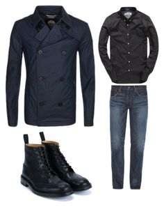 """12"" by nycmoo on Polyvore featuring Superdry, Polo Ralph Lauren, Tricker's, men's fashion и menswear"
