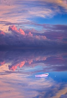 ~~Peace. Be Still. ~  dinghy moored on glass calm water, Cape Cod, Massachusetts by Michael Petrizzo~~