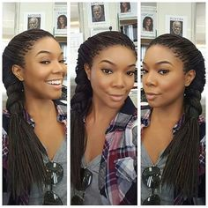 Braids Gabrielle Union Rocked Her Million Braids On Side Jumbo Goddess Braids Pattern.