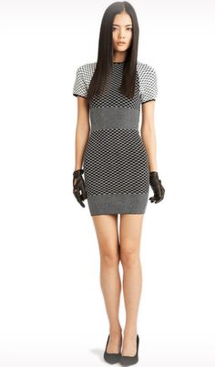 Jessie - A Fashion Boutique - Torn by Ronny Kobo Jane Dress Geo Knit - White/Black , $389.00 (http://www.jessieboutique.com/products/torn-by-ronny-kobo-jane-dress-geo-knit-white-black.html)