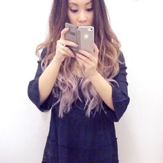 Came across this awkward fitting room selfie from 2014 but really liked how my hair looked here! lol  #LongHairDontCare  #Hairstyle #HairStyles #HairColor #LongHair #GreyOmbre #Ombre #Balayage #GreyHair #WavyHair #Hair #VioletHair #VioletOmbre #HairDo
