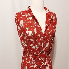 "🌺 2X HP 🌺 Diane Von Furstenberg Print Blouse 🌺4/22 Classic Chic Host Pick @beckasweird 🌺      🌺 4/3 Best in Tops Host Pick @cutenthrifty 🌺  Fabulous silk printed top. Contemporary Orange cream and black print. Mandarin collar, one button closure, three-quarter sleeve, back yoke, we self tie at back.  Over sized fit.   99% Silk 1% spandex  Dry Clean   42"" bust 24"" overall length Diane von Furstenberg Tops Tunics"