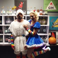 Stephanie & Co as Rainbow Brite & Sprite. Like this photo to vote for the people's choice winner! Voting ends at 10pm.