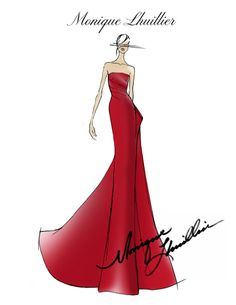 Monique Lhuillier Sketch| Be inspirational  ❥|Mz. Manerz: Being well dressed is a beautiful form of confidence, happiness & politeness