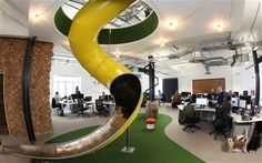 google office slide. Is This The Best Office In Britain? Google Slide
