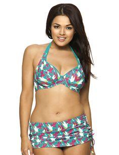861dd202343c6 Curvy Kate Birds Of Paradise Halterneck Bikini Top