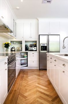 We should incorporate appliance garages when we remodel the kitchen