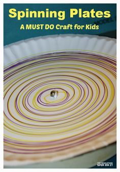 Crazy fun paper plate and marker craft using and old....