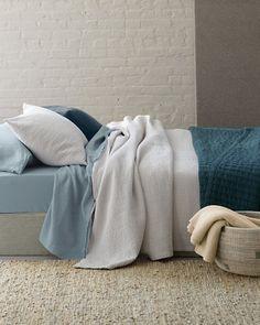 Eileen Fisher Rippled Cotton Coverlet - Garnet Hill :: Full $208