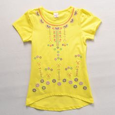 TOKTIC stylish clothes girls children Clothing kids girl short sleeves cotton print flower T shirts children girl tees and tops