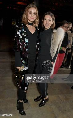 Olivia Palermo and Jillian Magenheim attend the Emporio Armani Show on September 17 2017 in London England
