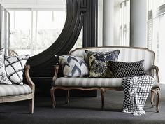 Black Cushions Insitu - Who can resist having a rest?
