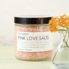 Fig+Yarrow Pink Love Salts in VALENTINE'S+GIFTS Valentine's Day Gift Guide Time to Unwind at Terrain