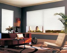 Vignette® Modern Roman shades by Hunter Douglas feature consistent folds with no exposed rear cords, keeping windows uncluttered. Superior quality modern shades for your home. Hunter Douglas Vignette, Contemporary Roman Blinds, Contemporary Windows, Custom Blinds, Modern Shade, Contemporary Window Treatments, Window Styles, Modern Roman Shades, Modern Blinds