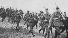 Scottish relief troops en route to the Front line
