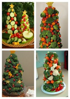 Make A Christmas Tree | Making a Veggie Christmas Tree is such a fun way to get your kids in ...