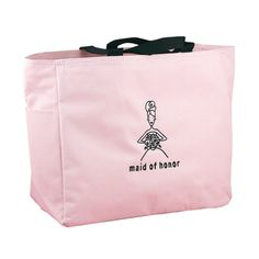 Wedding+Party+Pink+Tote+Bags+-+Maid+of+Honor