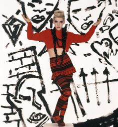 Bodymap, A/W 1984, modelled by Scarlett Cannon, 1985. From Club to Catwalk: London Fashion in the 80s. Photograph: Monica Curtin