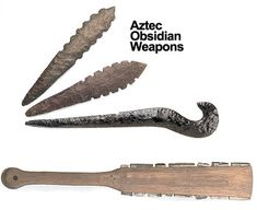 This Aztec Macahuitl sword/club w/obsidian blades can be applied to my theme. The blades can also be used as throwing weapons. Aztec Weapons, Dark Blade, Obsidian Blade, Inca Empire, Aztec Culture, Face Anatomy, Aztec Warrior, Mesoamerican, Fantasy Weapons