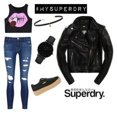 """""""The Cover Up – Jackets by Superdry: Contest Entry"""" by shainaepil on Polyvore featuring Superdry, J Brand, Chicnova Fashion, Carbon & Hyde, CLUSE and Puma"""