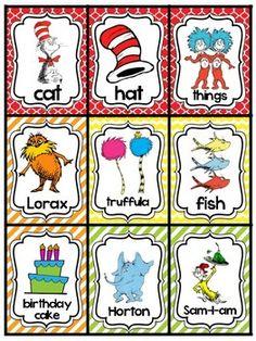 Browse over 40 educational resources created by Tickled Tennessee Teachin' in the official Teachers Pay Teachers store. Dr. Seuss, Dr Seuss Stem, Dr Seuss Art, Dr Seuss Crafts, Dr Seuss Printables, Dr Seuss Birthday, Birthday Games, Preschool Themes, Preschool Lessons