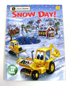 Snow Day! Book with John Deere characters  and 55 flaps