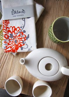 love these floral tea towels.