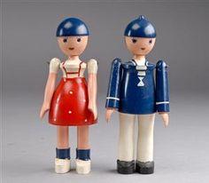 Kay Bojesen. Dukke-Lise og Ole (2)