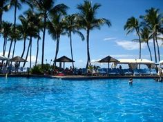 Relaxing by the Grand Wailea Pool-   Maui, Hawaii
