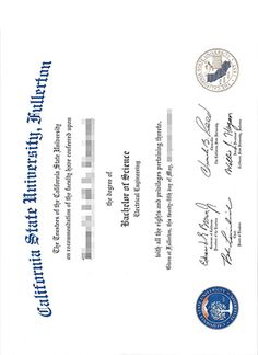 How to buy California State University Fullerton bachelor of science degree?