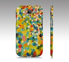 SWEPT AWAY 3 Samsung Galaxy S3 or S4 Hard Phone by EbiEmporium, $40.00 Ocean Waves Colorful Rainbow Splash Abstract Acrylic Painting Design, Whimsical Fun Summer Playful Pattern