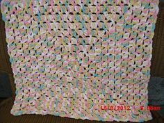 Pitter Patter Granny Square Blankie by Made4YouByBrenda on Etsy, $30.00