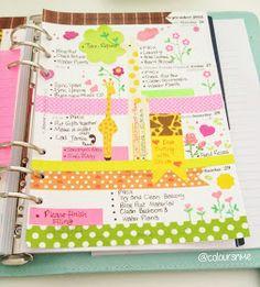 Coloursnme: Giraffe inspired week in my Kikki.K large leather time planner