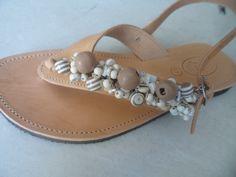 elli lyraraki. handmade leather sandal by ellishoes.blogspot.com