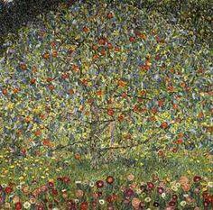 """Apple Tree I"", óleo por Gustav Klimt (1862-1918, Austria)"