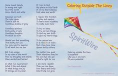 © Coloring Outside the Lines ©~ Dan Coppersmith, SpiritWire ~ wonderful poem, but even more wonderful, is why he wrote it! Go to his Etsy shop to read the story that prompted the writing of this wonderful poem! Kudos to you Dan, Major Kudos! ~❤~