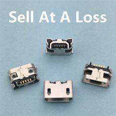 10pcs/lot Micro USB 5pin Jack Female Socket G23 Connector OX Horn Type for Tail Charging Mobile Phone Free Shipping