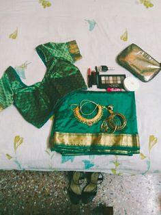 Green Silk sari