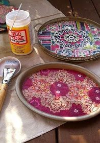 DIY Craft: Bohemian-inspired Trays for boho decor and handmade gifts they'll love! bohemian decor/ boho decor/ home decor/ boho chic/ bohemian/ diy gifts/ home decor ideas Diy Home Decor Projects, Diy Room Decor, Decor Ideas, Craft Ideas, Diy Ideas, Art Projects, Decorating Ideas, Bohemian Decor, Boho Chic