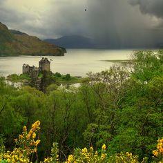 Island of Donan in Loch Duich in the western Highlands of Scotland