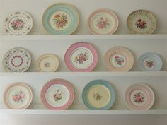 Ikea ideas | Plate rack | Vintage Plates, want to start collecting. Or tea cups. Or both.