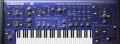 Osiris 6 - 6 voices polyphonic synthesizer.  http://www.vstplanet.com/Instruments/VST_Synthesizers4.htm