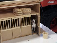 Schleich Toy Horse Stall I made for my girls.