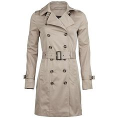 DAMES TRENCHCOAT (185 SEK) ❤ liked on Polyvore featuring outerwear, coats, brown trench coat, trench coat and brown coat
