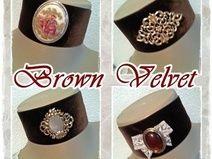 """""""Brown Velvet"""" Halsband 1-192+193+194+195"""