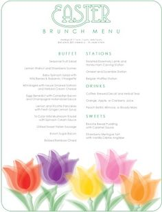 Join the Viscount Suite Hotel for an Easter Brunch Extravaganza Sunday April Enjoy bunny and baby chick exhibit that is fun for the whole family! For reservations call or Easter Brunch Menu, Easter Dinner, Menu Template, Templates, Breakfast Station, Strawberry Vinaigrette, Balsamic Onions, Easter Traditions, Menu Design