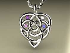 Celtic knot of motherhood pendant - you choose their birthstones for the dots - someone please tell my husband how much I LOVE it!! (please, and thank you!)